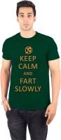 Enquotism Printed Men's Round Neck Green T-Shirt