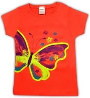 HoneyPossum Girls Printed T Shirt(Pink)