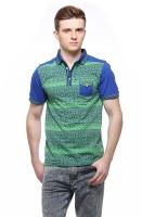 Fasnoya Printed Men's Polo Neck Light Green T-Shirt