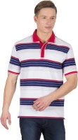 Wilkins & Tuscany Striped Men's Polo Neck Red T-Shirt