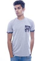 Urban Flux Solid Men Round Neck Grey T-Shirt