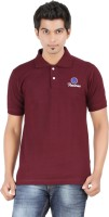 Fleximaa Solid Mens Polo Neck Maroon T-Shirt