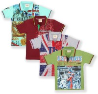 Tonyboy Boys Printed Cotton T Shirt(Multicolor, Pack of 4)