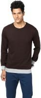 Unisopent Designs Solid Men's Round Neck Brown, Grey T-Shirt