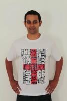 642 Stitches Printed Men's Round Neck White T-Shirt