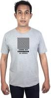 SVX Printed Men Round Neck Grey T-Shirt