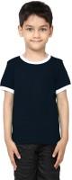 99Tshirts Boys Solid Cotton T Shirt(Black, Pack of 1)