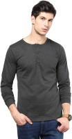 Izinc Solid Men's Henley Grey T-Shirt
