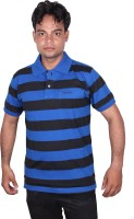 Norwood Striped Men's Polo Neck Reversible Blue, Black T-Shirt
