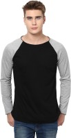 Unisopent Designs Solid Men's Round Neck Black, Grey T-Shirt