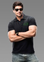 Imagica Solid Men's Polo Neck Black T-Shirt