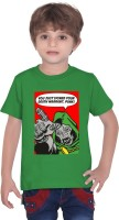 Tantra Boys Graphic Print T Shirt(Green, Pack of 1)