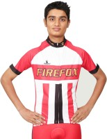 Triumph Firefox Printed Mens Round Neck Red T-Shirt