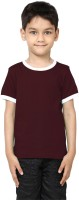 99Tshirts Boys Solid Cotton T Shirt(Brown, Pack of 1)