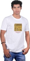 Heritage Design Graphic Print Men's Round Neck White T-Shirt