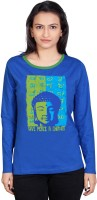 Tantra Graphic Print Womens Round Neck Blue T-Shirt