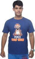Clickroo Printed Mens Round Neck Blue T-Shirt