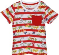 Chirpie Pie by Pantaloons Boys Striped T Shirt(Red, Pack of 1)
