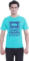 Tantra Graphic Print Men's Round Neck Light Blue T-Shirt