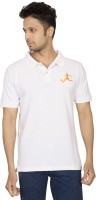 Red Line Solid Men Polo Neck White T-Shirt