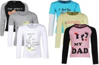 Gkidz Girls Printed T Shirt(Multicolor)
