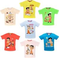 Chhota Bheem Boys Printed Cotton T Shirt(Multicolor, Pack of 7)