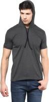 Izinc Solid Men's Hooded Grey T-Shirt