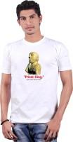 Heritage Design Printed Mens Round Neck White T-Shirt