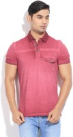 United Colors of Benetton Solid Mens Polo Neck Red T-Shirt