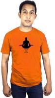 SVX Printed Men Round Neck Orange T-Shirt