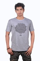 Heritage Design Printed Mens Round Neck Grey T-Shirt