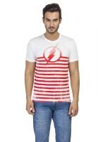 DC Comics Printed Men's Round Neck White T-Shirt