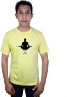 SVX Printed Men's Round Neck Yellow T-Shirt