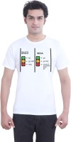Tantra Graphic Print Men's Round Neck White T-Shirt