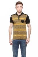 Fasnoya Printed Men's Polo Neck Yellow T-Shirt