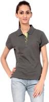 Texco Printed Womens Polo Neck Blue T-Shirt