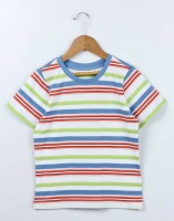 Beebay Boys Striped T Shirt(Multicolor Pack of 1)
