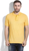Pepe Jeans Solid Mens Polo Neck Yellow T-Shirt