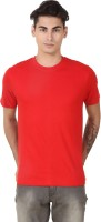 Casabella Solid Men's Round Neck Red T-Shirt