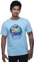 Clickroo Printed Men's Round Neck Light Blue T-Shirt