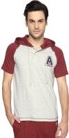 Ajile by Pantaloons Solid Men's Hooded Beige T-Shirt