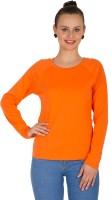 Hypernation Solid Women's Round Neck Orange T-Shirt
