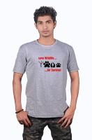 Heritage Design Printed Men's Round Neck Grey T-Shirt