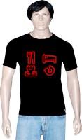 Tshirt.in Graphic Print Men's Round Neck Black T-Shirt
