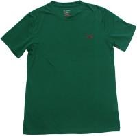 2swords Solid Men Round Neck Green T-Shirt