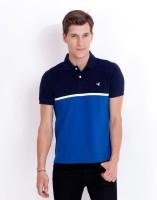 Elaborado Solid Men's Polo Neck Dark Blue, Blue T-Shirt