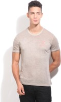 United Colors of Benetton Solid Mens Round Neck Grey T-Shirt