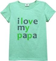 Abstract Mood Girls Printed T Shirt(Light Green)