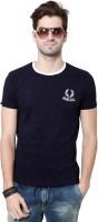 University of Oxford Solid Men's Round Neck Dark Blue T-Shirt