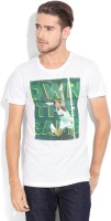 Puma Printed Men's Round Neck White T-Shirt